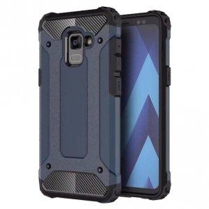 Hybrid Armor pancerne hybrydowe etui pokrowiec Samsung Galaxy A8 2018 A530 niebieski