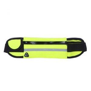 Pas do biegania saszetka nerka na bidon etui na telefon z wyjściem na słuchawki zielony