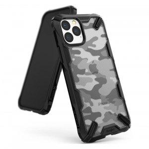 Ringke Fusion X Design etui pancerny pokrowiec z ramką iPhone 11 Pro Max czarny Camo Black (XDAP0004)