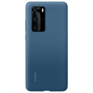 Huawei Silicone Case elastyczne silikonowe etui pokrowiec Huawei P40 Pro niebieski (51993799)