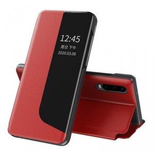 Eco Leather View Case elegancki futerał etui z klapką i funkcją podstawki Huawei P30 Pro czerwony