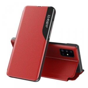 Eco Leather View Case elegancki futerał etui z klapką i funkcją podstawki Huawei P40 czerwony