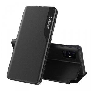 Eco Leather View Case elegancki futerał etui z klapką i funkcją podstawki Huawei P40 Pro czarny