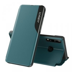 Eco Leather View Case elegancki futerał etui z klapką i funkcją podstawki Huawei P40 Lite E zielony