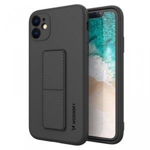 Kickstand Case elastyczne silikonowe etui z podstawką iPhone 11 czarny