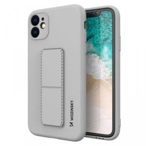 Kickstand Case elastyczne silikonowe etui z podstawką iPhone 11 Pro Max szary
