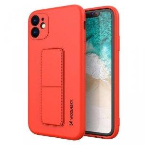Kickstand Case elastyczne silikonowe etui z podstawką iPhone 11 Pro Max czerwony