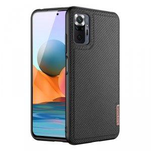 Dux Ducis Fino etui pokrowiec pokryty nylonowym materiałem Xiaomi Redmi Note 10 Pro czarny