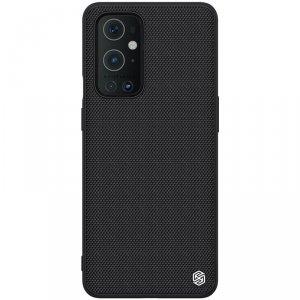 Nillkin Textured Case wytrzymałe wzmocnione etui z żelową ramką i nylonem na tyle OnePlus 9 Pro czarny