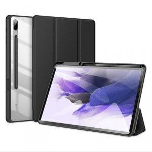 Dux Ducis Toby pancerne etui z klapką Smart Case do Samsung Galaxy Tab S7+ (S7 Plus) z uchwytem na rysik czarny
