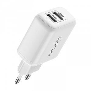 Dux Ducis ładowarka sieciowa 2x USB 12W 2,4A biały (C10 white)