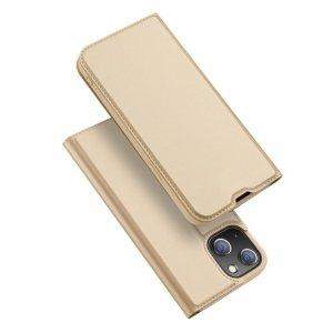 Dux Ducis Skin Pro kabura etui pokrowiec z klapką iPhone 13 mini złoty
