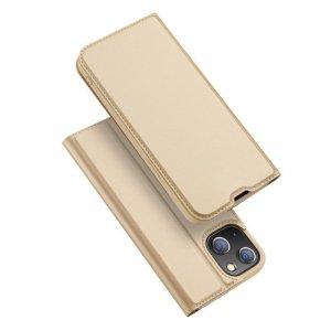 Dux Ducis Skin Pro kabura etui pokrowiec z klapką iPhone 13 złoty