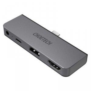 Choetech stacja dokująca do Apple iPad Pro adapter HUB USB Typ C 4w1 100W PD czarny (HUB-M13)