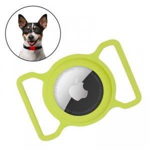 Zestaw obroża i etui do Apple AirTag dla psa kota zawieszka case do lokalizatora Apple AirTag zielony