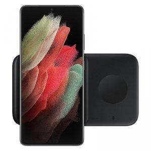 Samsung bezprzewodowa ładowarka  2w1 do telefonu, Galaxy Watch + adapter sieciowy czarna (EP-P4300TBE)