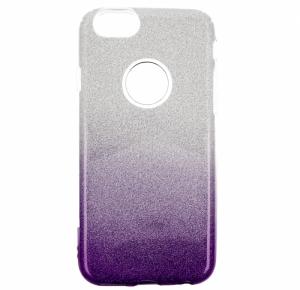Etui Glitter IPHONE 6 srebrno-fioletowy