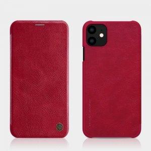 Etui skórzane z klapką Flip Nillkin Qin IPHONE 11 PRO MAX czerwone