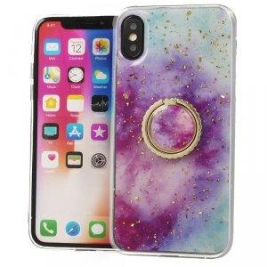 Etui IPHONE 6 Marble Ring fioletowo-niebieskie