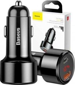 Ładowarka samochodowa USB TYP C PD i USB inteligentne szybkie ładowanie Baseus Magic Series PPS Quick Charge 4.0+ / QC3.0 45W 6A