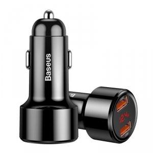 Ładowarka samochodowa 2x USB inteligentne szybkie ładowanie Baseus Magic Series Dual QC Quick Charge 3.0 45W 6A czarny (CCMLC20A