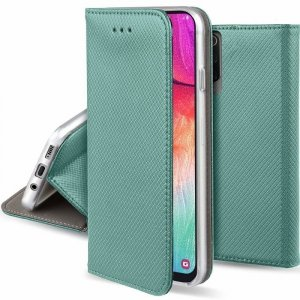 Etui MOTOROLA MOTO G8+ PLUS portfel z klapką Flip Magnet miętowe