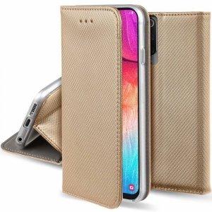 Etui HUAWEI P SMART 2020 portfel z klapką Flip Magnet złote