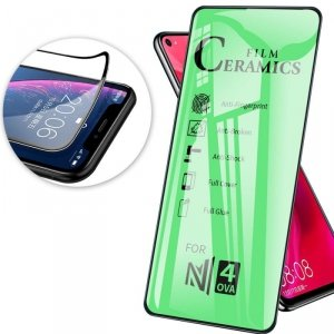 Szkło Hybrydowe IPHONE XS MAX hartowane 9D Ceramic Full Glue