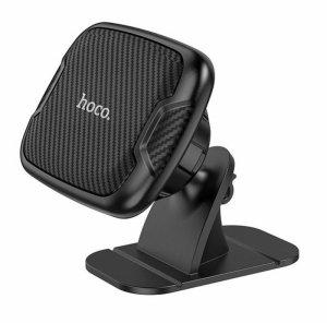 Uchwyt Magnetyczny HOCO CA66 Samochodowy na deskę rozdzielczą / kokpit przyklejany czarny