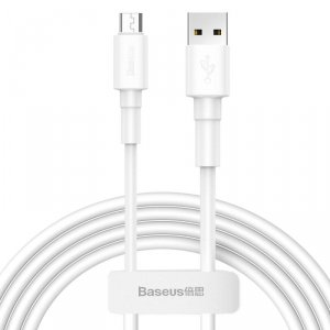 Kabel 2.4A 1m Micro USB Baseus Mini White Cable CAMSW-02 biały