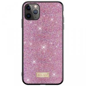 Etui SAMSUNG GALAXY S21+ PLUS Brokat SULADA Dazzling Glitter różowe