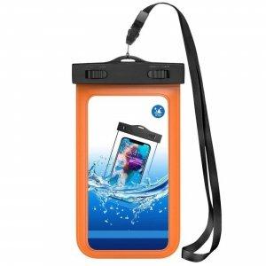 Etui Wodoodporne 7 Nieprzemakająca Saszetka na Telefon Komórkowy / Smartfon WC03 pomarańczowe
