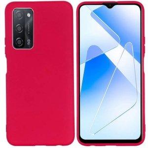 Etui OPPO A54 5G / A74 5G / A93 5G Silicone case elastyczne silikonowe bordowy