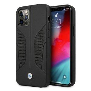 Etui BMW BMHCP12MRSCSK iPhone 12/12 Pro 6,1 czarny/black hardcase Leather Perforate Sides