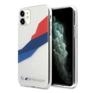 Etui BMW BMHCN61SKTGT iPhone 11 6,1 transparent hardcase Motorsport Tricolor