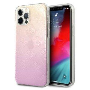 Guess GUHCP12M3D4GGPG iPhone 12/12 Pro 6,1 różowy pink 3D Raised 4G Gradient