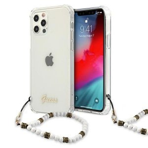 Etui Guess GUHCP12MKPSWH iPhone 12/12 Pro 6,1 Transparent hardcase White Pearl