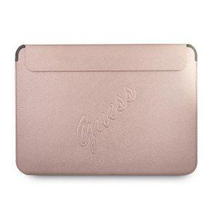 Guess Sleeve GUCS13PUSASPI 13 różowy /pink Saffiano Script