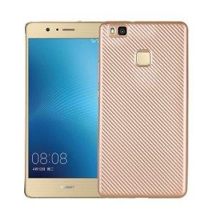 Etui Carbon Fiber Huawei P9 lite złoty /gold