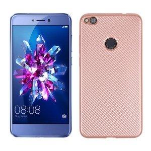 Etui Carbon Fiber Huawei P8 lite 2017 różowo-złoty/rose gold