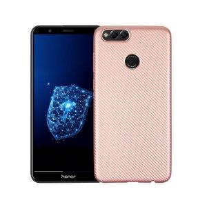 Etui Carbon Fiber Huawei Honor 7X różowo -złoty /rosegold