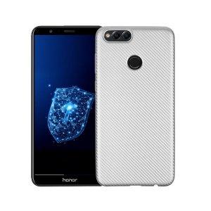 Etui Carbon Fiber Huawei Honor 7X srebrn y/silver