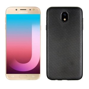 Etui Carbon Fiber Samsung J7 J730 2017 czarny/black