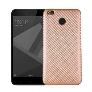Etui Carbon Fiber Xiaomi Redmi 4X złoty /gold