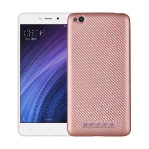 Etui Carbon Fiber Xiaomi Redmi 4A różowo-złoty /rosegold