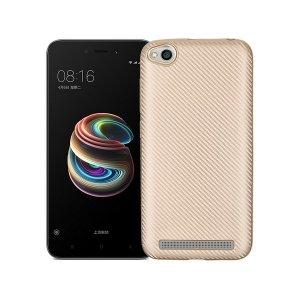 Etui Carbon Fiber Xiaomi Note 5A złoty /gold without cut finger print