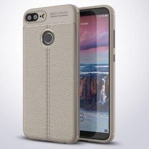 Etui Grain Leather Huawei Honor 9 Lite szary/grey