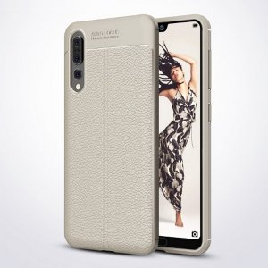 Etui Grain Leather Huawei P20 Pro szary /grey