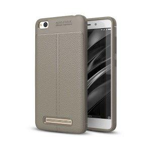 Etui Grain Leather Xiaomi Redmi 4A szary /grey