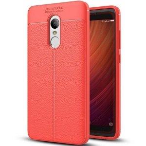 Etui Grain Leather Xiaomi Redmi Note 4X czerwony/red